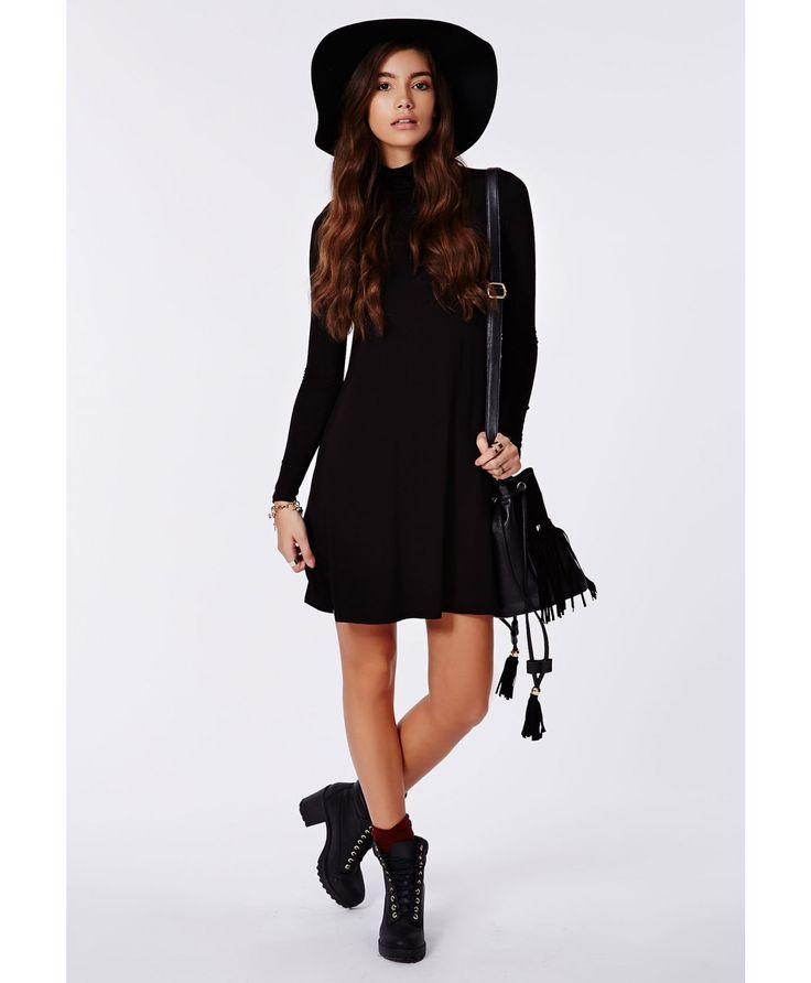 Jeanette High Neck Swing Dress - Dresses - Swing Dresses - Missguided