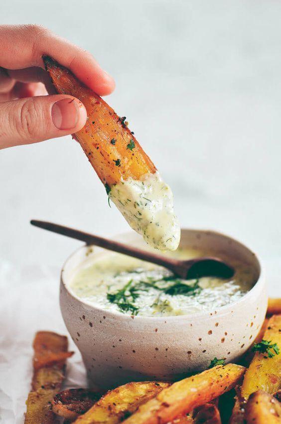 Garlic Lime Sweet Potato Fries.