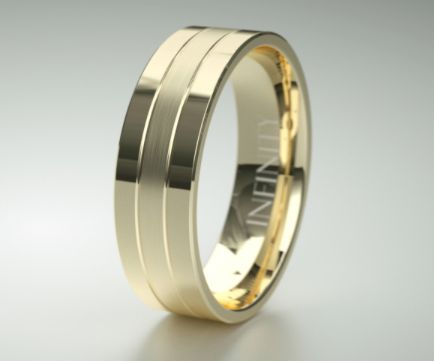 Available in #gold #platinum and #titanium this stylish #mensring with single matte circle around the centre epitomises understated elegance. View online in 360' http://goo.gl/mY38fH #mensband #weddingband #infinityrings #itsinfinity #whitegold #palladium #weddingrings