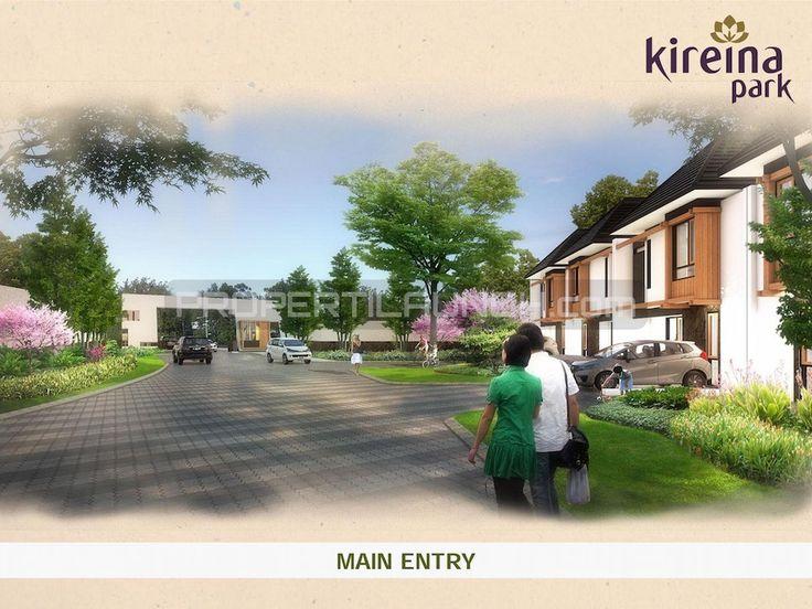 Main entry rumah cluster Kireina Park BSD.