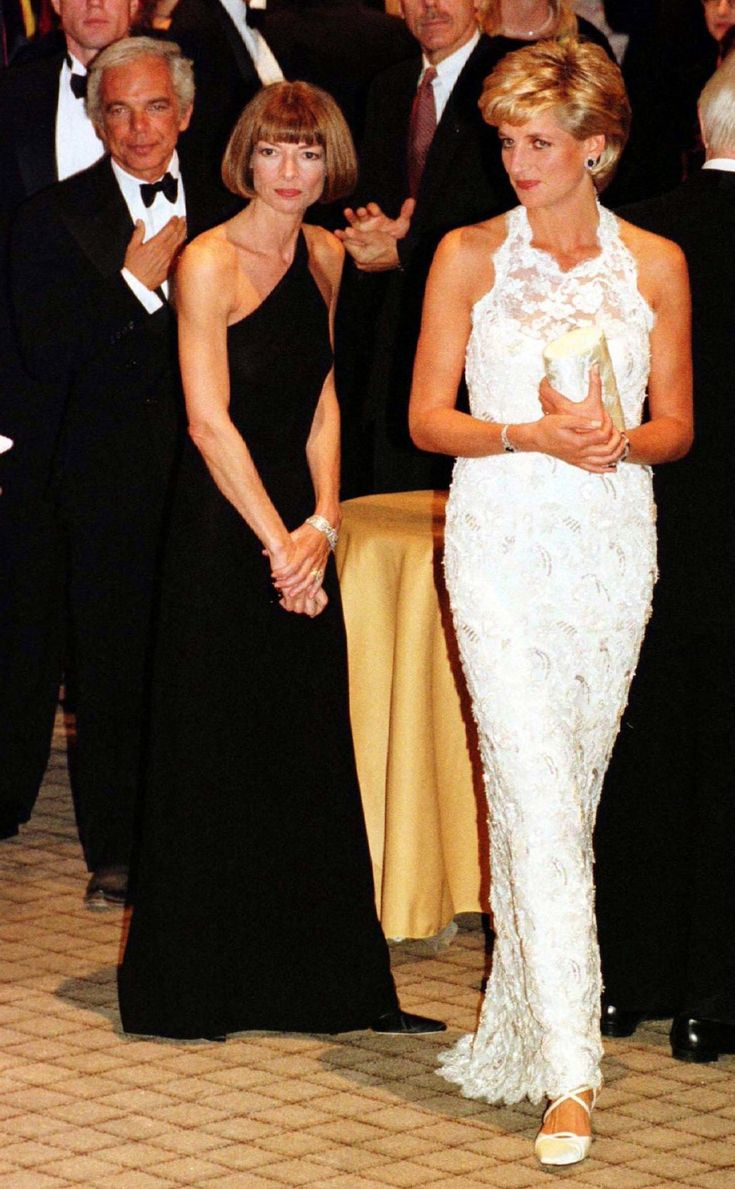 Lady Diana and Anna Wintour