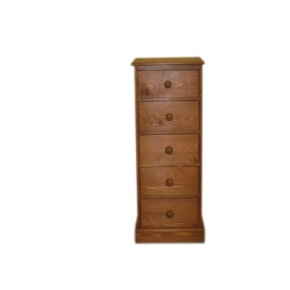 Portchester Pine Waxed 5 Drawer Wellington Chest www.easyfurn.co.uk