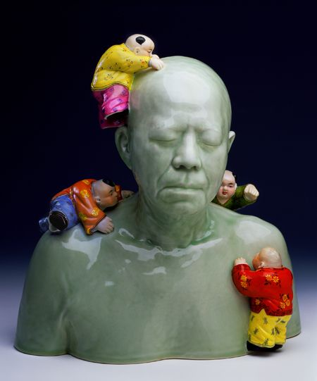 AH XIAN is a Chinese-Australian contemporary artist whose work reflects his intrigue with the human body, Xian uses  different techniques & materials, many of which are rooted in ancient Chinese craft skills, including porcelain, cloisonne, lacquer, jade, ox-bone inlay, bronze, & concrete.