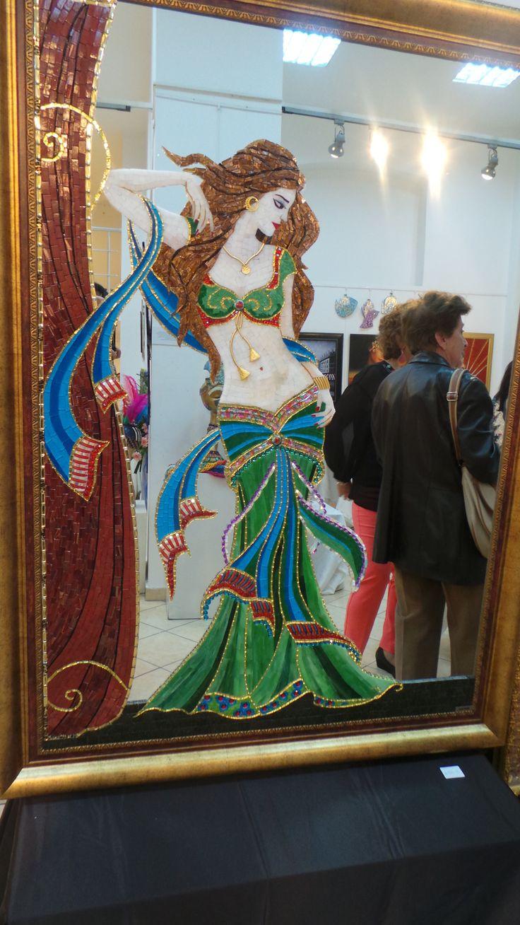 Mosaic and mirror.  Bu Mozaik çalışma sevgili öğrencim Aytül Kiriş'e aittir.