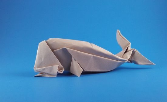 how to make a whale origami