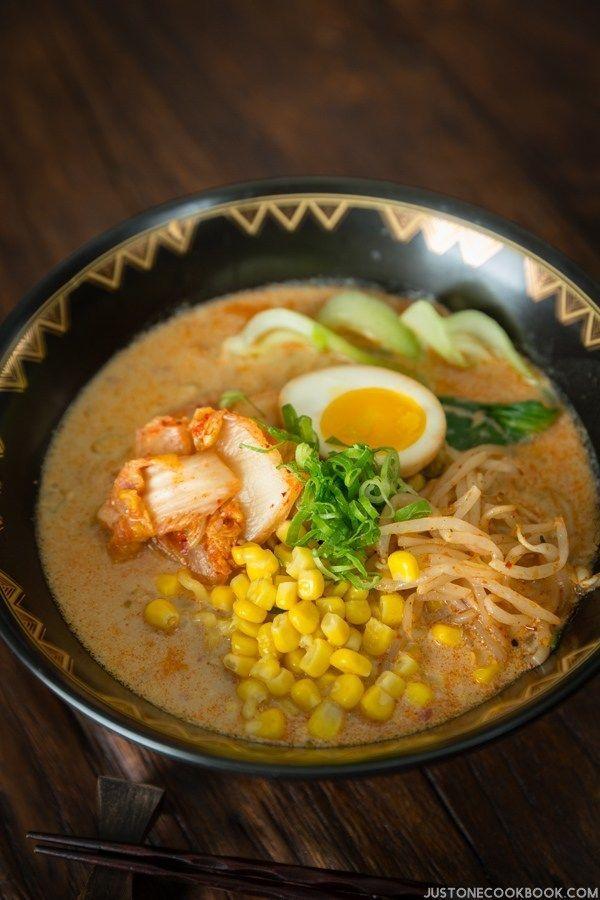 Spicy Soy Milk Vegetarian Ramen | Easy Japanese Recipes at JustOneCookbook.com