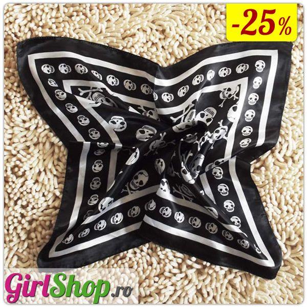GirlShop.ro -  Esarfa neagra cu cranii  -  http://www.girlshop.ro/cumpara/esarfa-neagra-cu-cranii-28  - #girlshop #bijuterie #bijuterii #accesorii #accesoriu