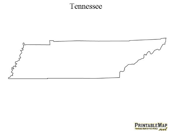 Printable Map of Tennessee