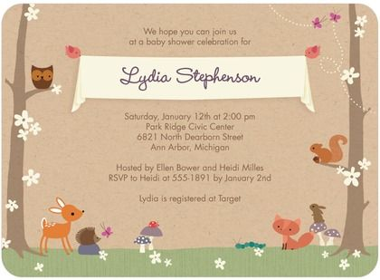 woodland dream baby shower invitations in nutmeg hallmark