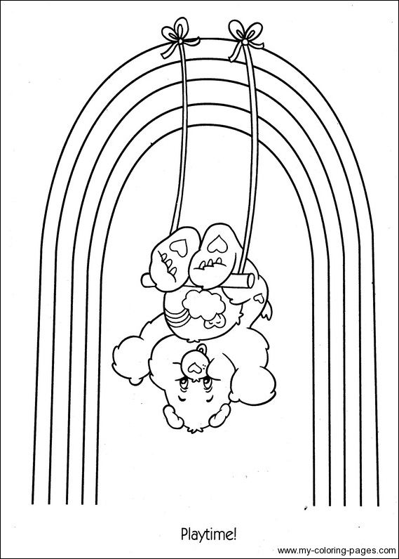 care bear heart coloring pages | 18 best images about Care Bear | Bashful Heart Bear on ...