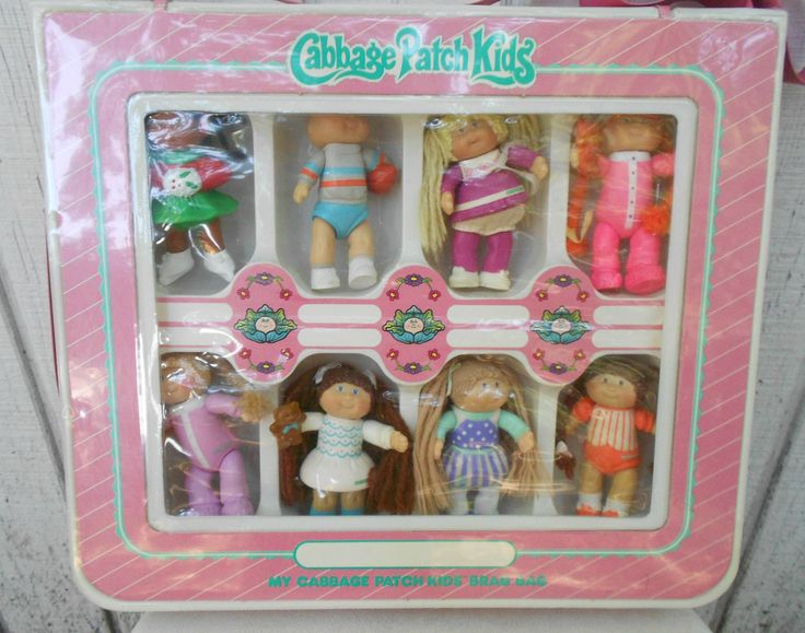Vintage Cabbage Patch Kids Figures with Case 80's Toy CPK Figures. $27.00, via Etsy.