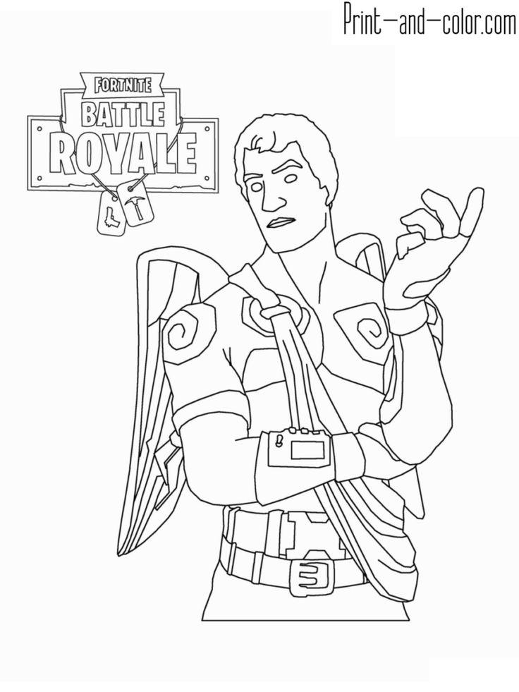 Fortnite Battle Royale Coloring Page Love Ranger