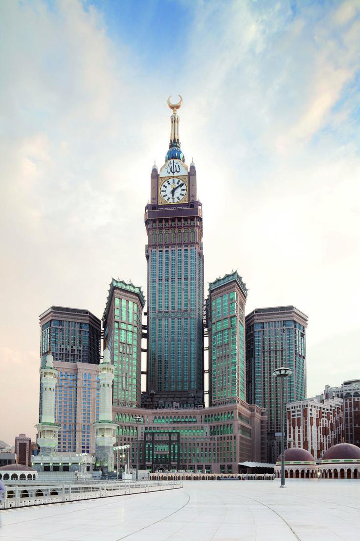 Completed Makkah Royal Hotel Clock Tower in Saudi Arabia