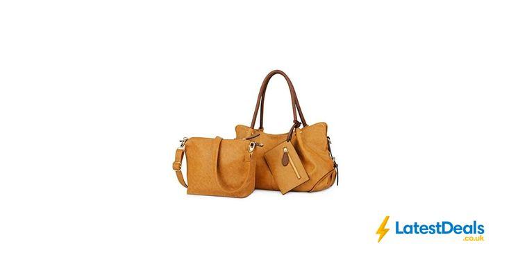 Big Bargain! UTO Womens Handbag Set Of 3 Save £19 Free Delivery, £29.99 at Amazon UK