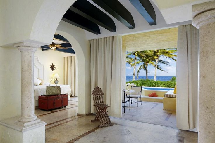 This 5-star boutique resort is in Puerto Morelos Mexico, just 20 minutes from Cancun International Airport. It features gourmet restaurants, spa services and a private beach.