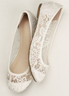 Crochet flats are both stylish and functional! Ballet flats feature stunning crochet detail. Available in Silver and White. Fully lined. Imported.