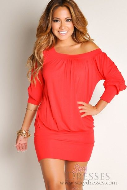 25  best ideas about Red tunic dress on Pinterest | Bright summer ...