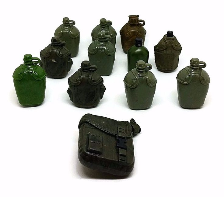 """12"""" Military Action Figures 1/6 Scale Canteen Lot of 12 Canteens"""