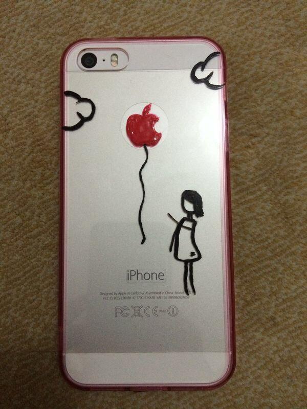 Yeni tasarımım balon uçuracak kız. Iphone kılıfı