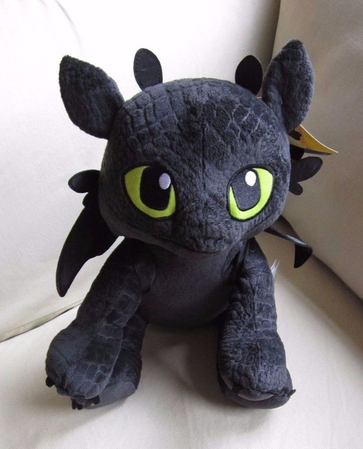 NWT Build A Bear Toothless How To Train Your Dragon Plush Stuffed Animal Bear #BuildaBear #AllOccasion
