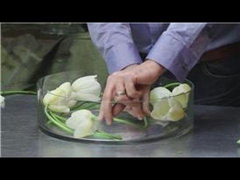 Flower Arrangements : White Tulip Flower Arrangement