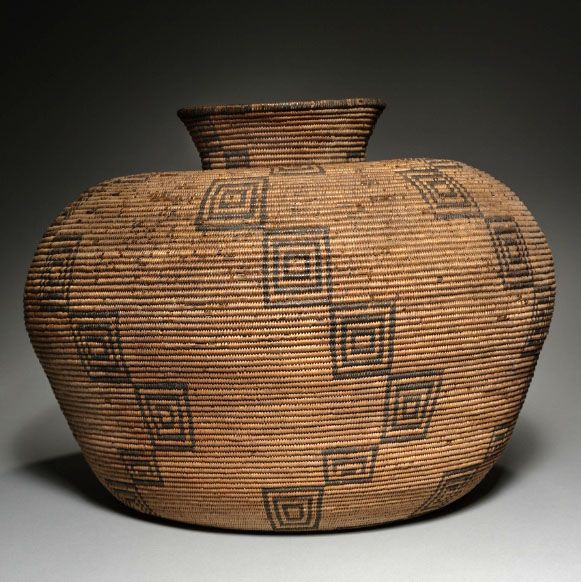 Grain Storage Basket, late 1800s | Southwest, White Mountains, Arizona, Apache | Coiled,