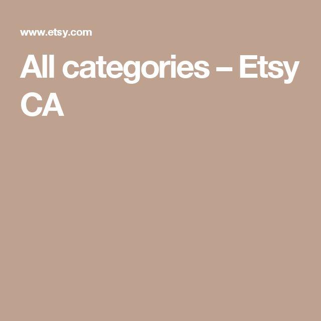 All categories – Etsy CA