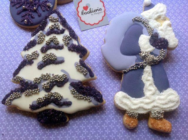 Cookieria By Margaret: Natal Roxo... Purple Christmas Cookies