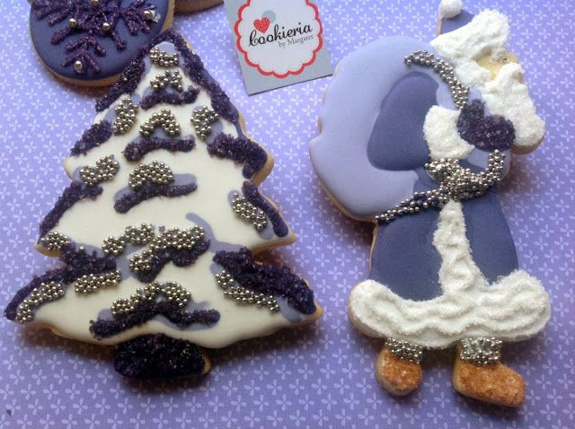 Cookieria By Margaret: Natal Roxo... Purple Christmas Cookies