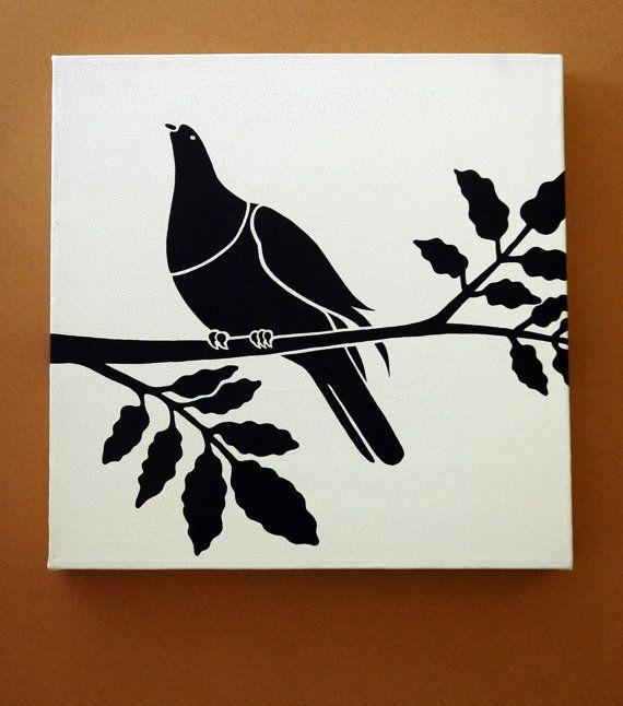 Kereru (New Zealand Pigeon) In A Puriri Tree. $40.00, via Etsy.