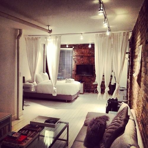 Studio Apartment Room Ideas top 25+ best room divider curtain ideas on pinterest | curtain
