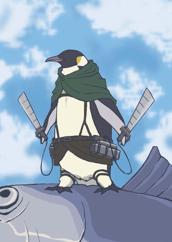 ペンギン兵長『大人しくしてて。そうしないと…君の赤身を綺麗に削げないでしょ』