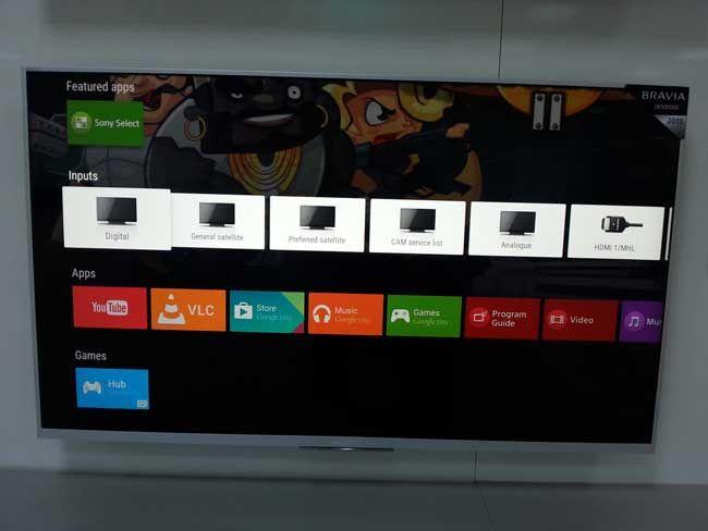 aplicatii android pe televizorul Sony 43W756CS