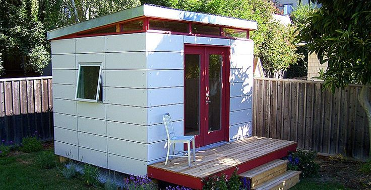 10 x 12 open joint siding from modern shed seattle for Modern shed siding