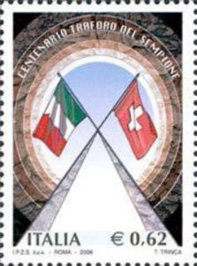 Gallery and flags of Italy and Switzerland