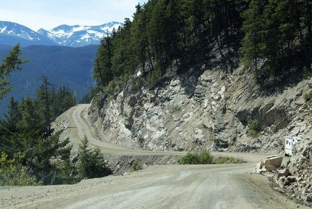 Highway 20 to Bella Coola, BC - Surviving 11 kms of terror