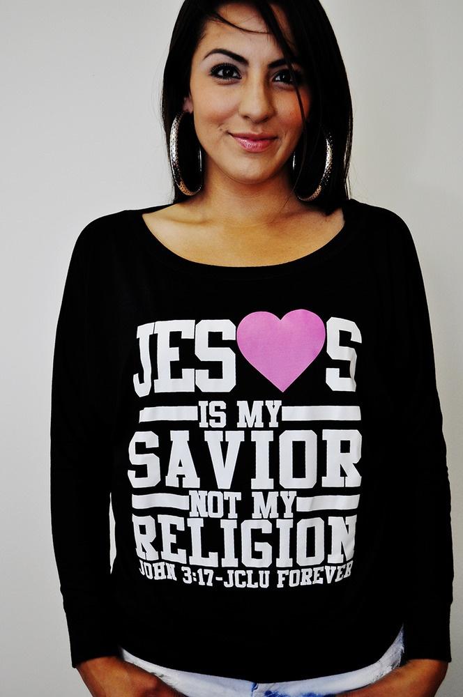 $23.99  in 3 Colors SAVIOR DOLMAN SHIRT-Christian T-shirts by JCLU Forever Christian t-shirts