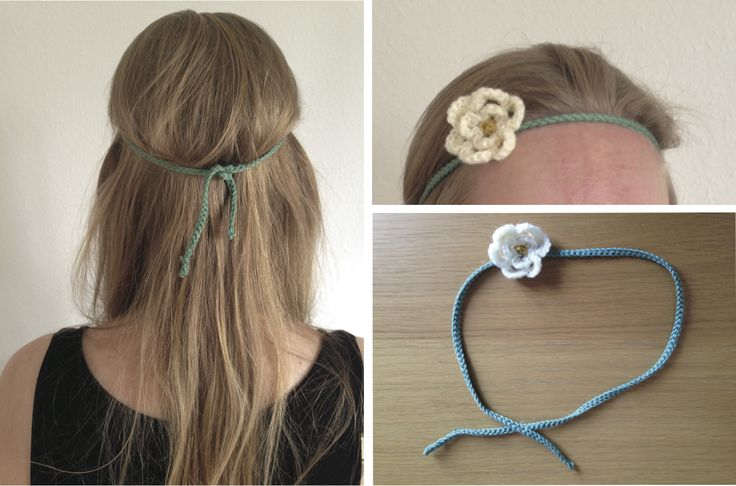 This weekend I found myself feeling very summery and I made this simple headband to accentuate my mood and dress. Very pretty I think :)