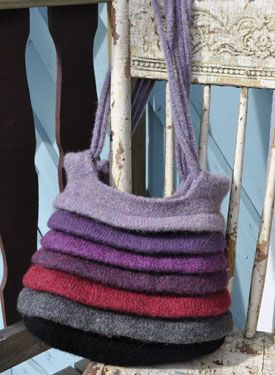 Alluvia Felted Tote - Knitting Patterns and Crochet Patterns from KnitPicks.com