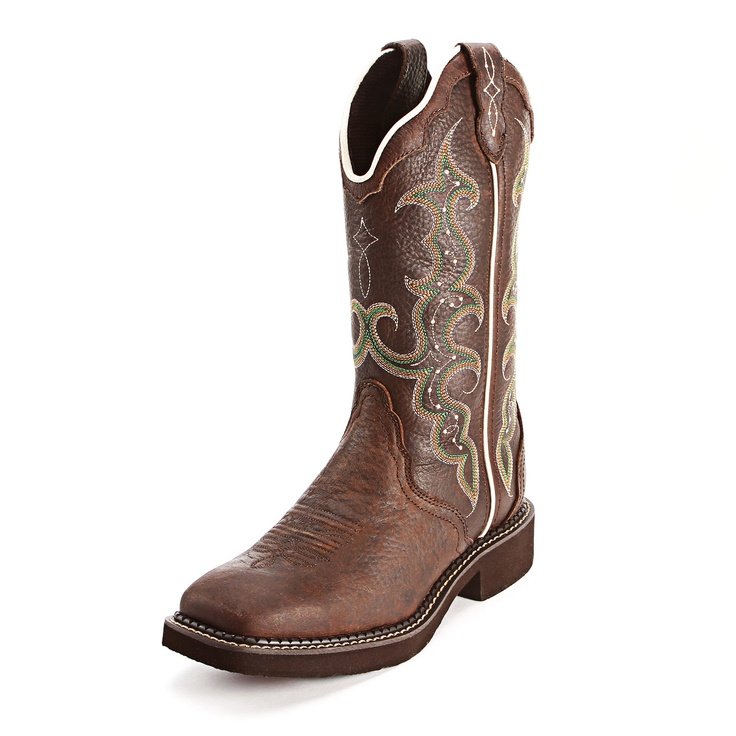 Justin Gypsy Chocolate Square Toe Cowgirl Boots