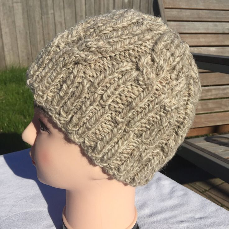 A personal favourite from my Etsy shop https://www.etsy.com/au/listing/525117433/hand-knit-cable-beanie-hat-toque-ready