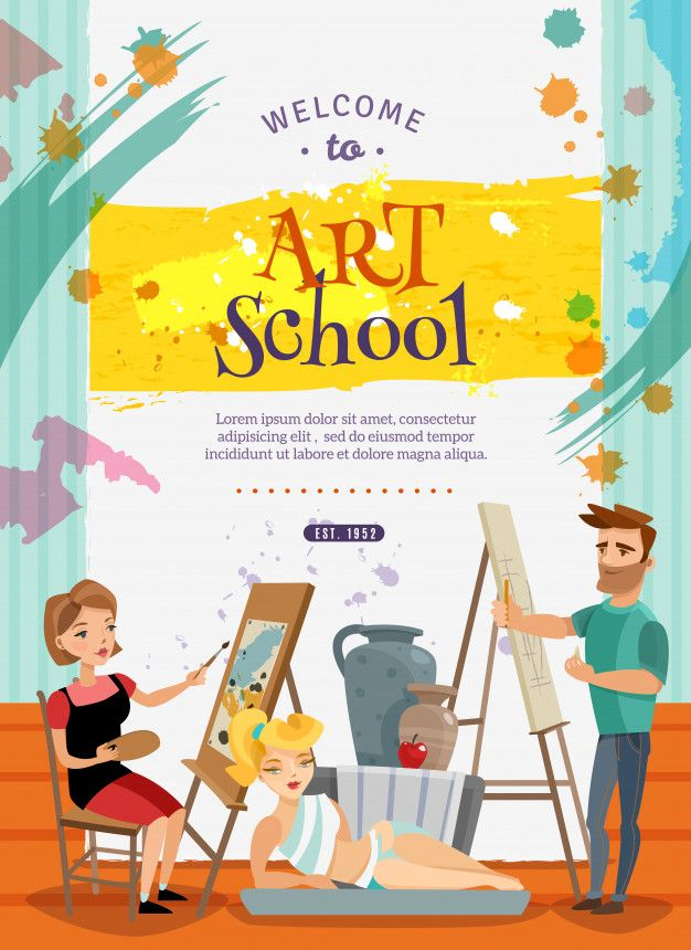 Download Visual Art School Classes Offer Poster For Free Art