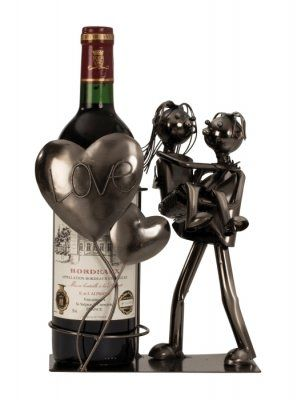 "Wein-Flaschenhalter ""Liebespaar"""