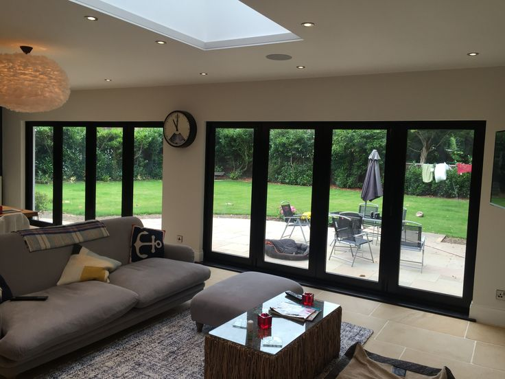 Purpose built, bespoke bi-fold doors to bring the outside in to this wonderful home. #bifold #doors #glass #decor