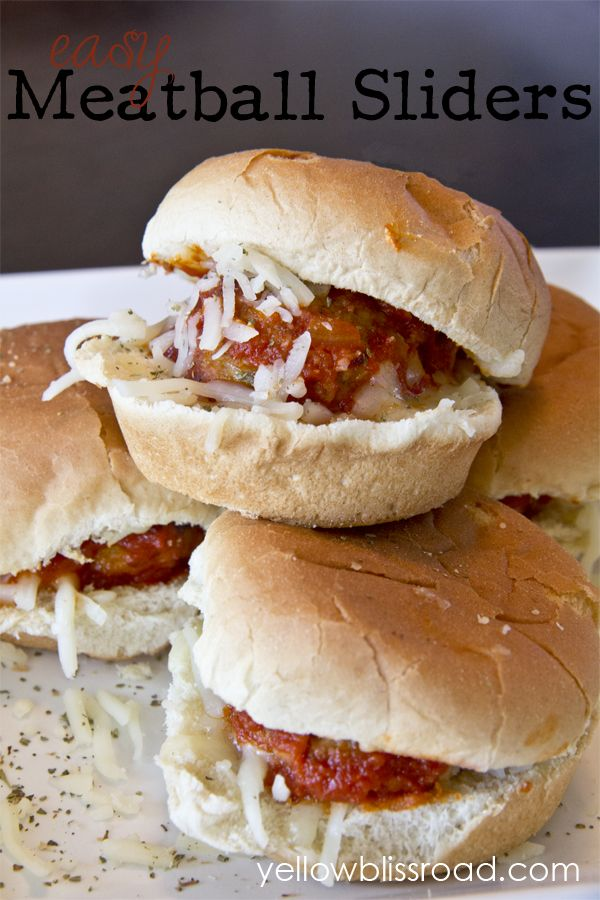 Easy Meatball Sliders – a quick and delicious weeknight meal, or the perfect par