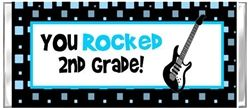 End of the School Year ROCKSTAR GUITAR Hershey Candy Wrapper Favor Gift Present.  Great for kids to give out to their classmates or teachers on the last day of school.  Can even include a phone number or email address on the back for your kids to be able to keep in touch over the summer!