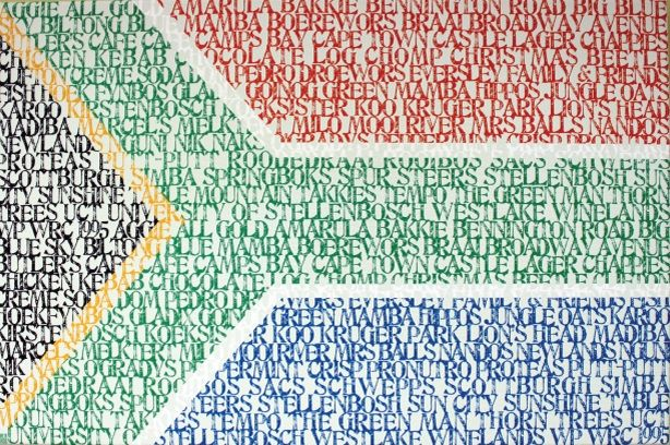 South African flag typography canvas http://www.morethanwords.uk.com/your-typographic-art.php?prodId=146=10==