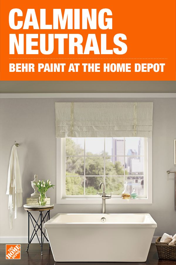Create A Calm Bath Getaway With Neutral Paint Colors From The Home Depot With The Proper Preparation The Ri Bathroom Color Trending Paint Colors Paint Trends