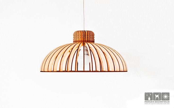 Holz Laserschnitt - Lampe