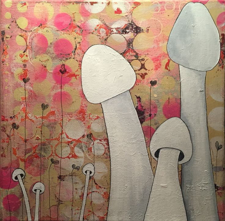 """""""Coral garden"""", by Lisbeth Sahl, 40x40 cm."""